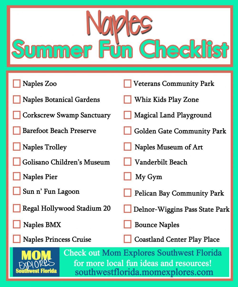 Summer Fun Checklist In Naples Mom Explores Southwest
