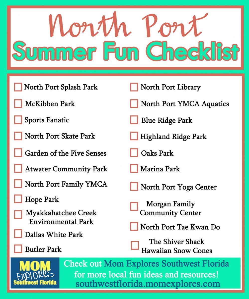 Summer Fun Checklist In North Port Mom Explores